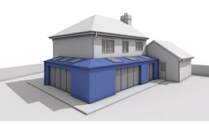 planning applications Planning Applications Permission Drawings Architecture Extension Quote Single storey side and rear wrap around extension with pitched roof 300x180
